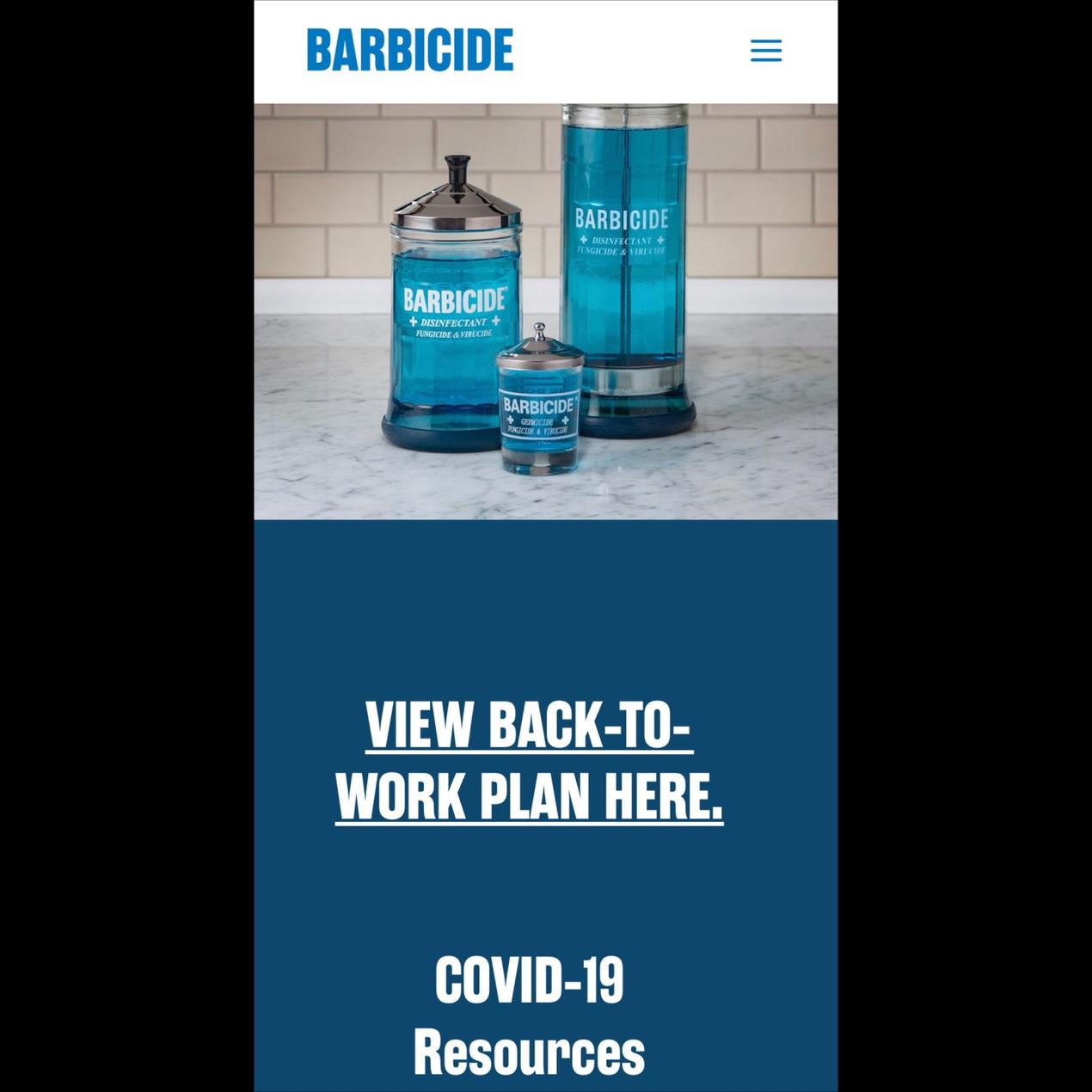 Barbicide Website