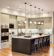Beautiful kitchen interior in new luxury