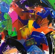 Acrylic on Canvas (40 x 40 cm)