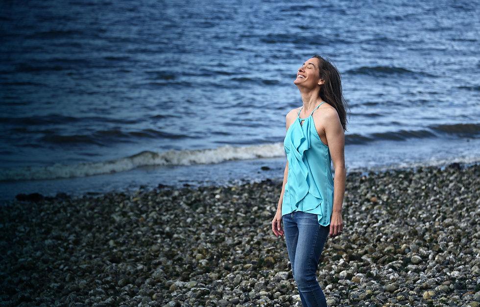 Melanie on the beach