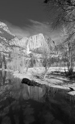 "Merced River & Yosemite Falls"""