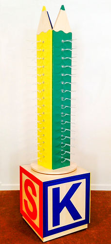Kids Crayon Display With Storage Block_1