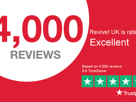 Revive! reach 4,000 Reviews on Trustpilot in 12 months