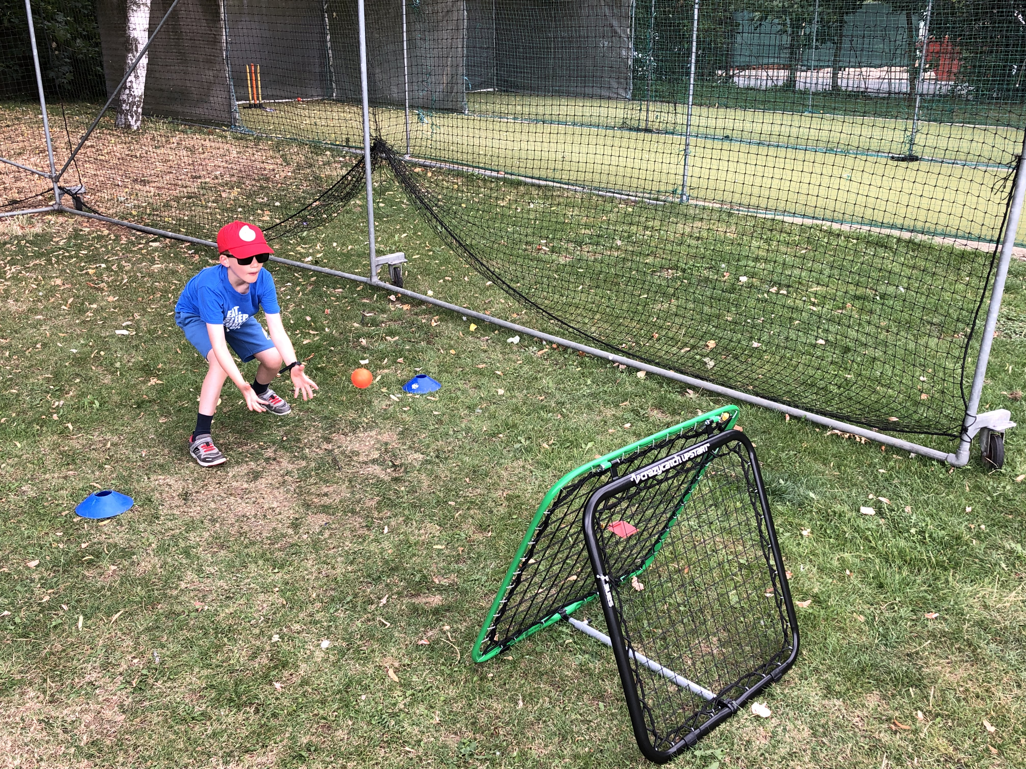 Crazy Catch challenge at 2019 Falcon Summer Camp at Finchley Cricket Club