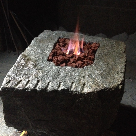 Rustic Fire Pit with drill marks