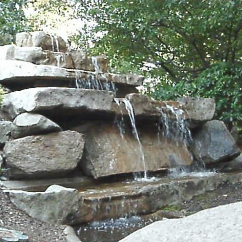 Cascading six tier fountain