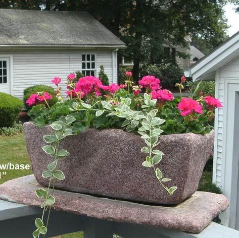 Custom rectangular planter