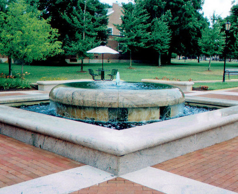 Stonehill College Fountain 1