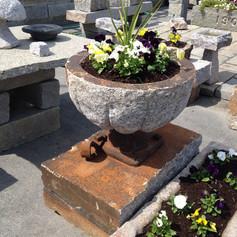 Longfellow Planter with Iron pedestal