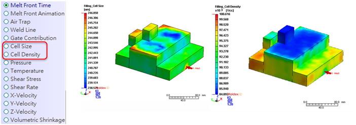 그림 1 사용자가 미세 구조 이해하는 데 도움이 되는 기포 크기 및 밀도 분포 계산
