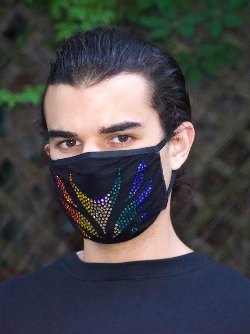 Rainbow Velocity Swarovski Crystal Mask