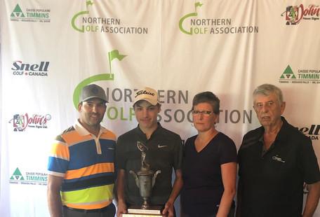 U17 Champion Nick Cundari (North Bay Golf & Country Club)