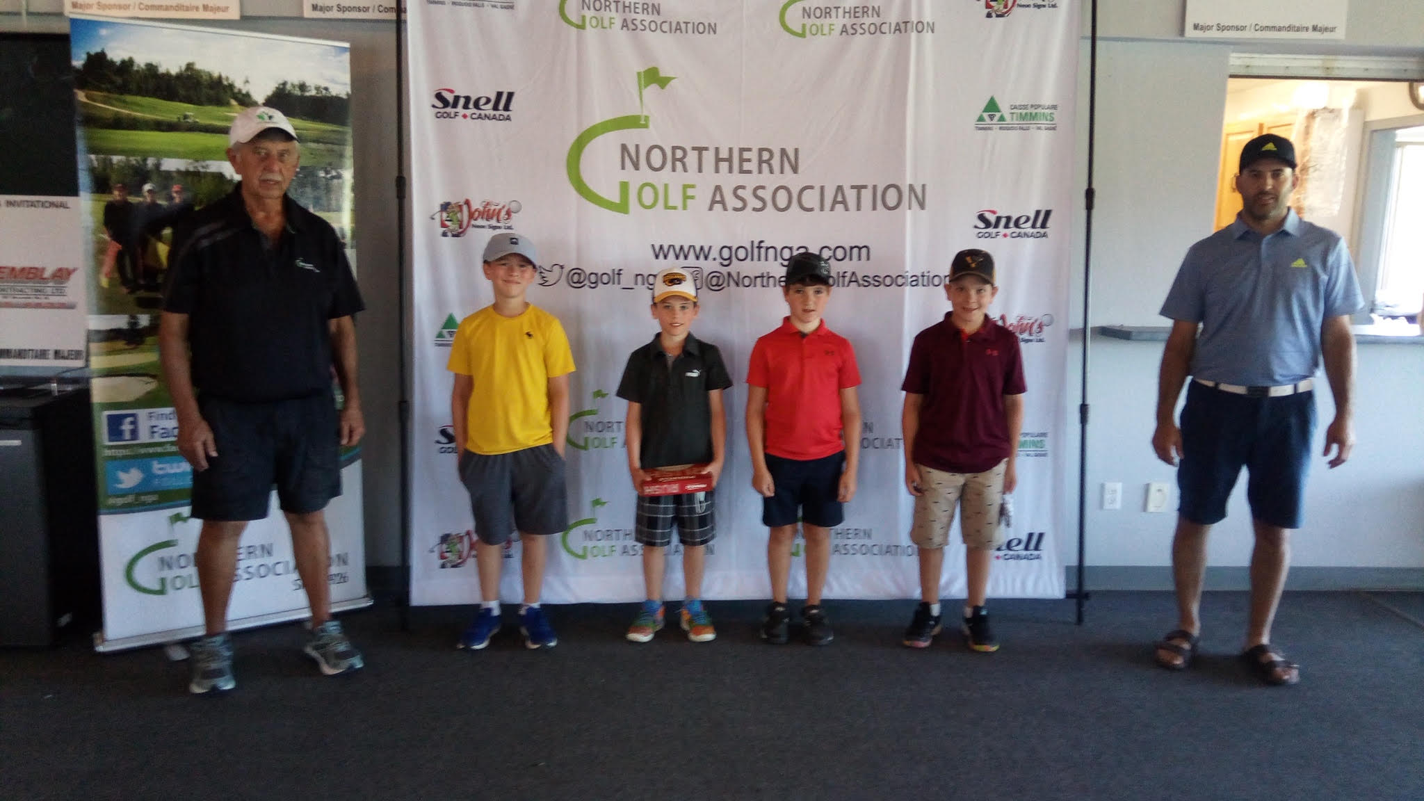 Brody Guenette, Matéo Villeneuve, Alexandre Duhaime, Bryson Dube competed as a scramble team at the NGA Junior Championships