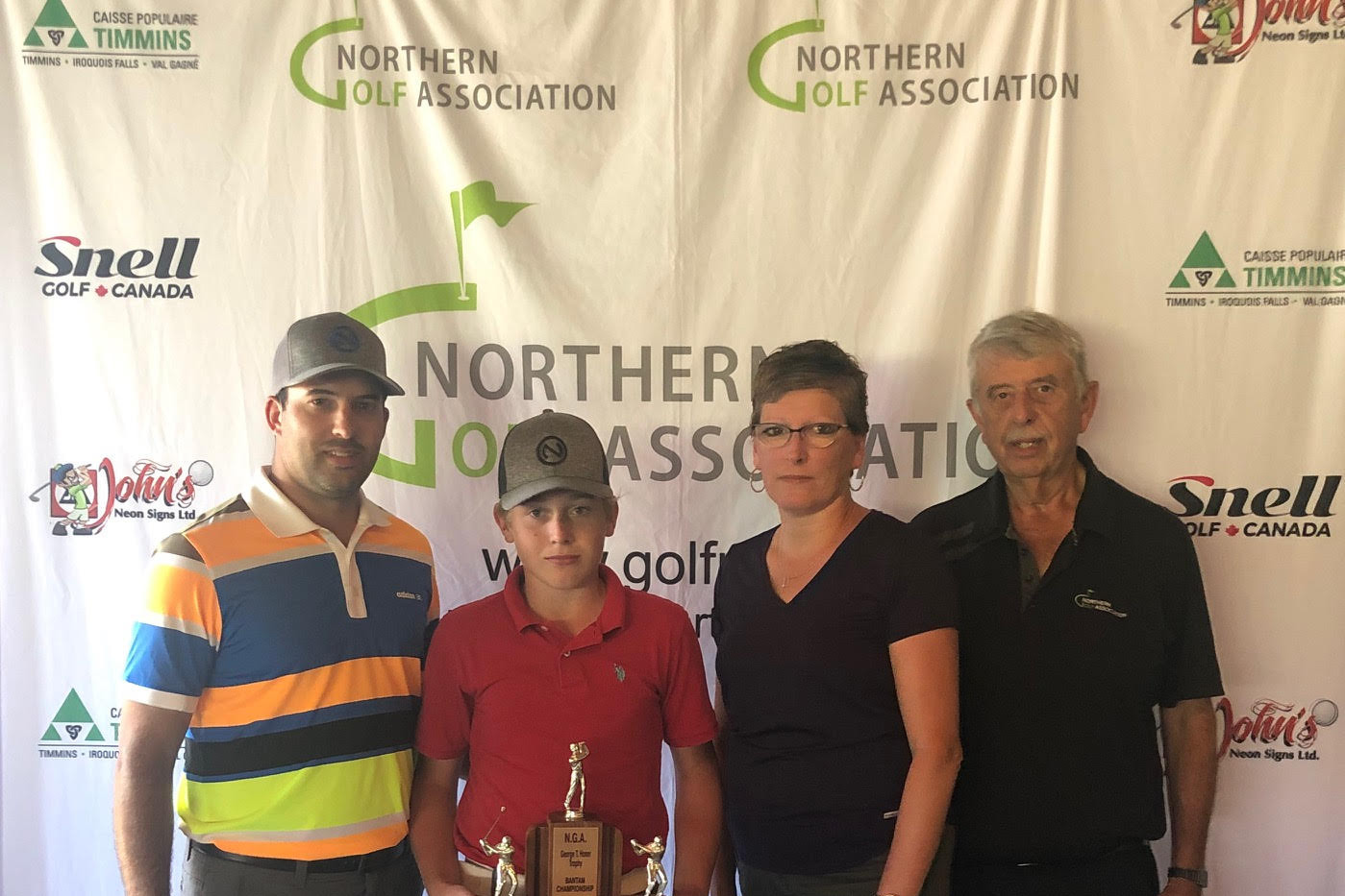 U15 Champion Jayden Laplante (Kapuskasing Golf Club)