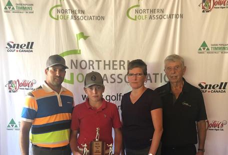 U15 Champion Jayden Laplante (Kapuskasing Golf Club)