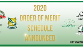 2020 Order Of Merit Schedule Announced