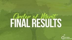 Order of Merit Final Rankings