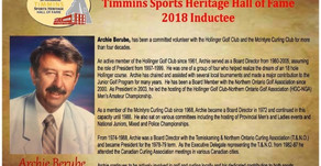 Berube inducted in to Timmins Sports Heritage Hall of Fame