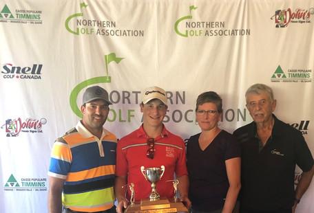 U19 Champion Nick Lalonde (Hollinger Golf Club)