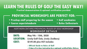 Provincial Rules of Golf Workshop Announced