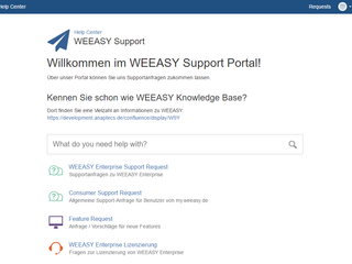 Neues WEEASY Support Portal