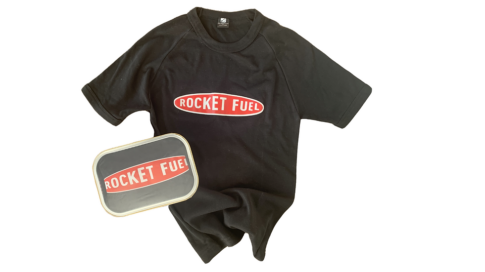 Classic Rocket Fuel Tee - Black