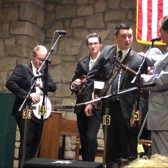 Brayden with Larry Sparks and the Lonesome Ramblers