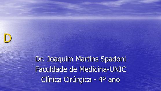Doenças Anorretais - Prof. Joaquim Spadoni