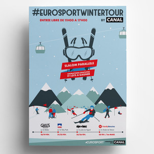 EUROSPORT WINTER TOUR BY CANAL