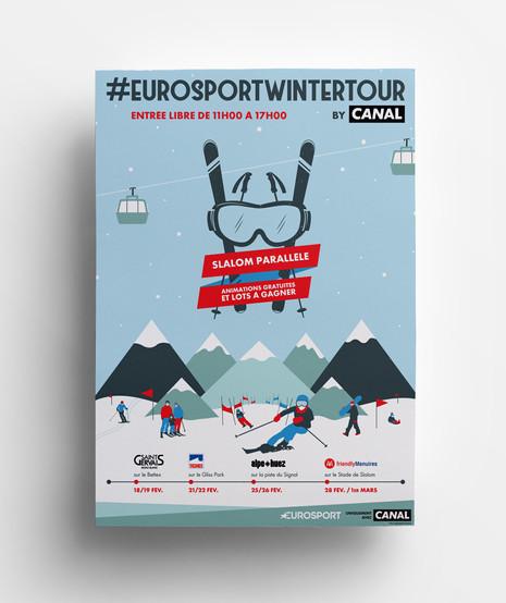 Eurosport Winter Tour by CANAL ⋅ Illustration et graphisme