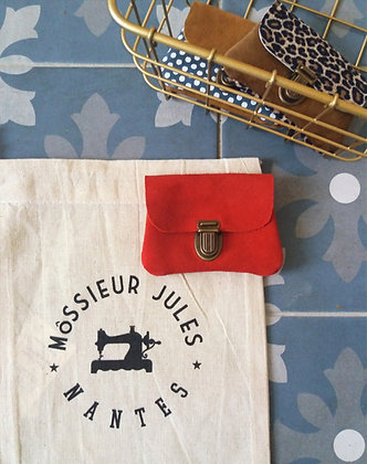 Cuir rouge coquelicot
