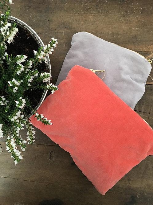 Handmade velvet/linen bags