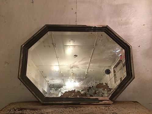 Unusual silver gilt foxed mirror