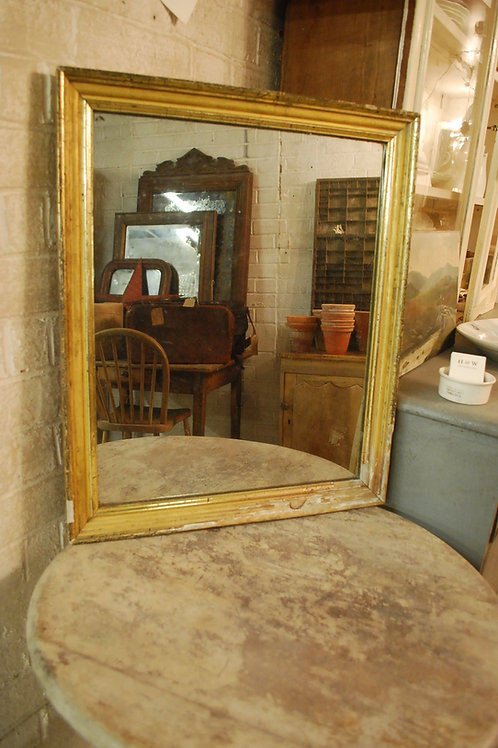 Simple French gilt frame mirror