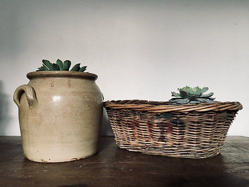 Old basket with original paint