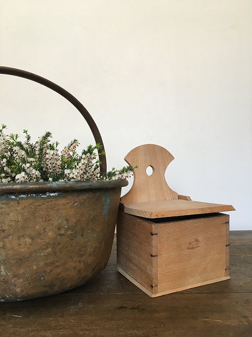 Wood salt pot