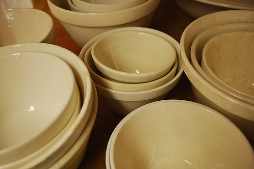 Old pudding bowls (various sizes/prices)