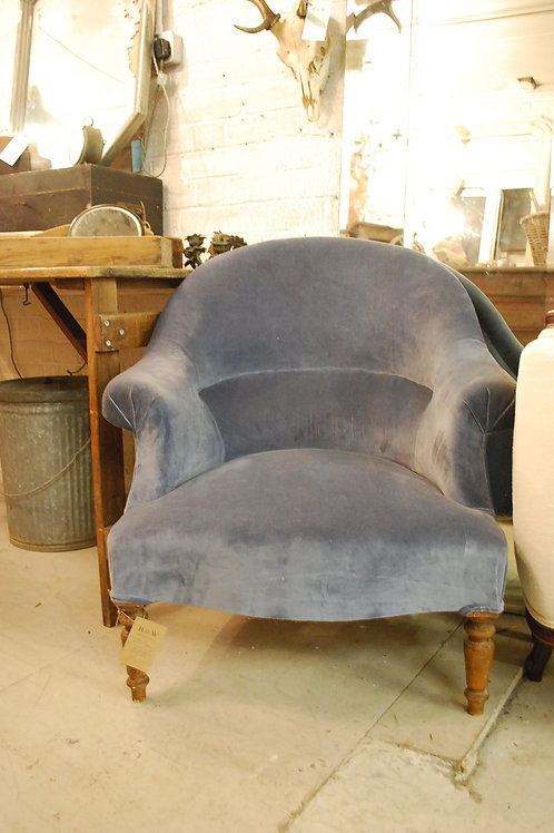 Blue velvet chair