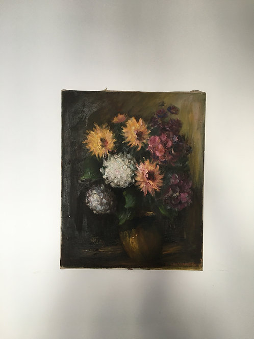 French floral oil painting