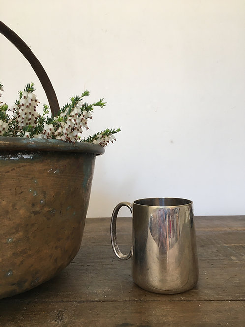 Mini silver plated tankard