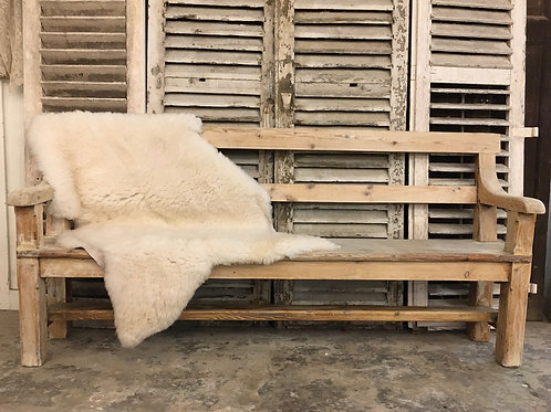 Bleached bench