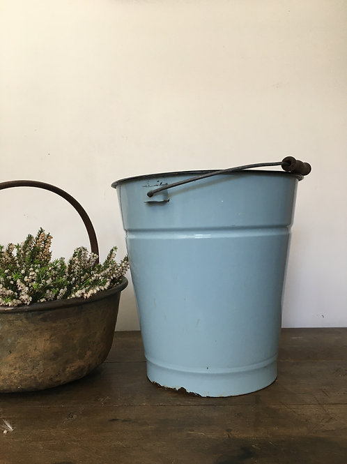 Duck egg blue enamel bucket