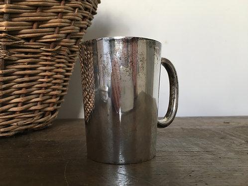 Silver plated half pint mug