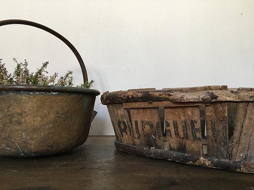Vintage French punnet basket box