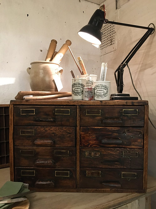 Wooden index drawers
