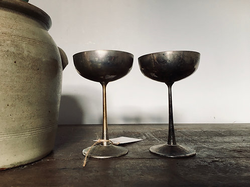 Silver plated Italian Arthur Price champagne coups