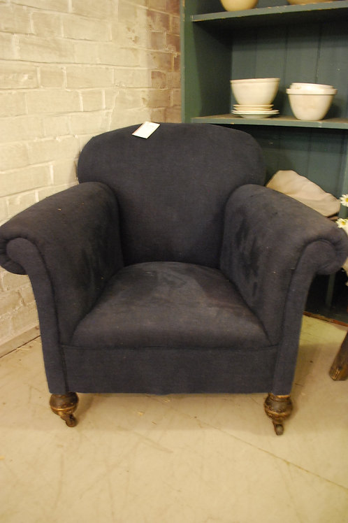Blue linen chair
