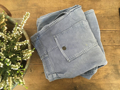 French indigo workware trousers