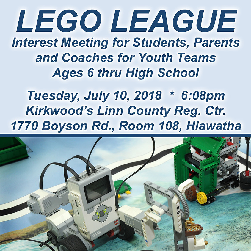 LEGO League Interest Meeting at STEAM On