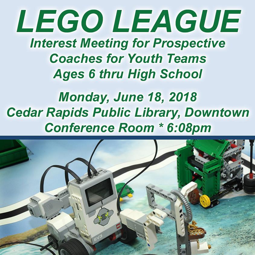 LEGO League Interest Meeting for Prospective Coaches
